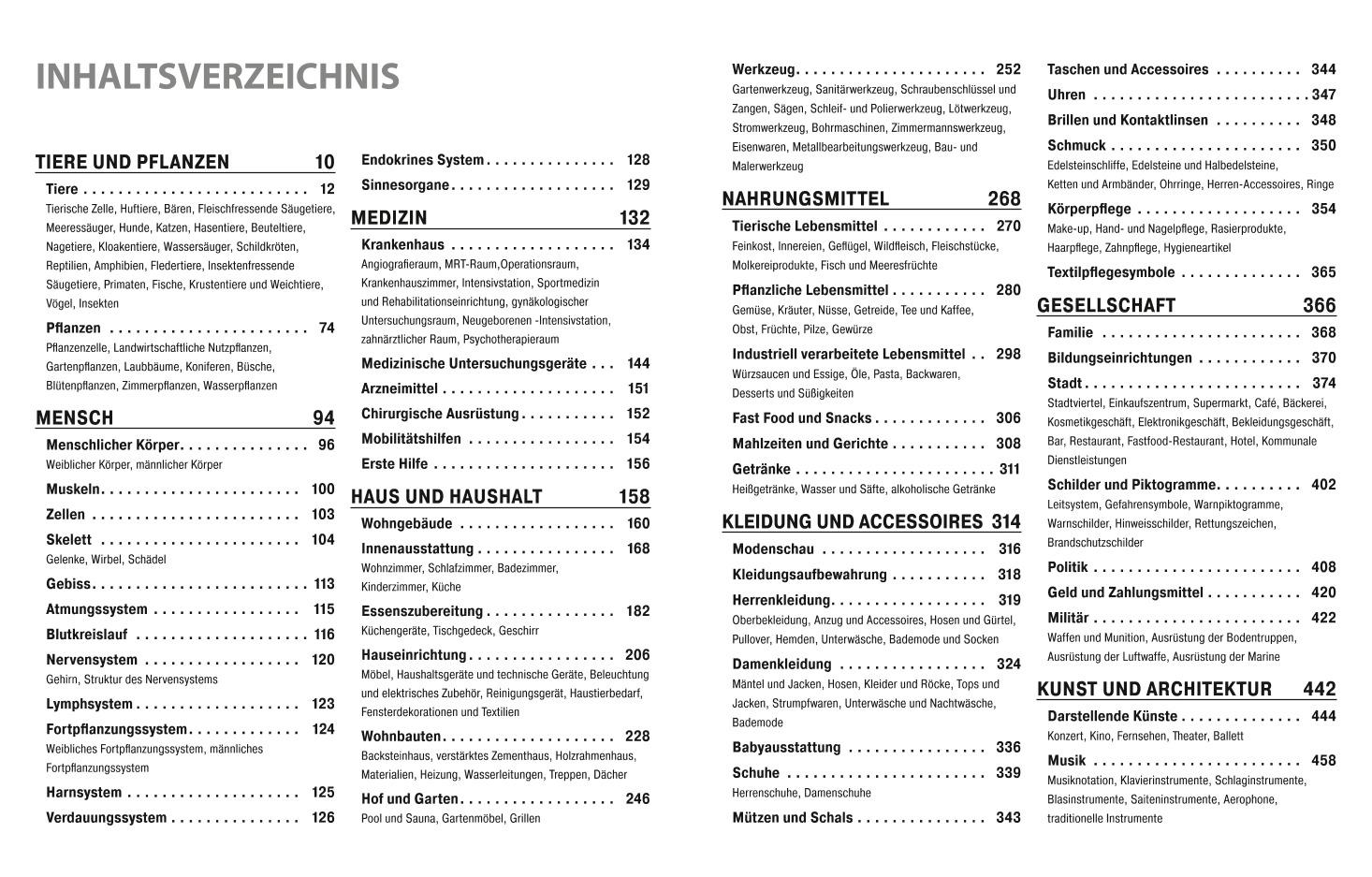 Das große multilinguale Bildwörterbuch