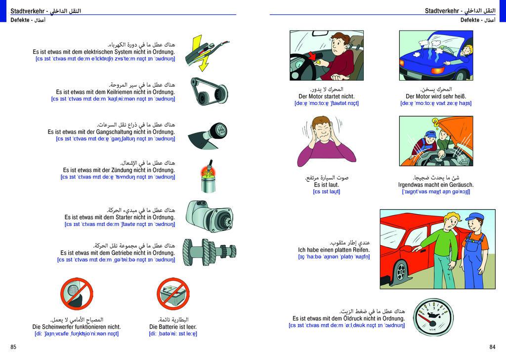 Illustrierter Sprachführer Deutsch. Hauptsprache Arabisch