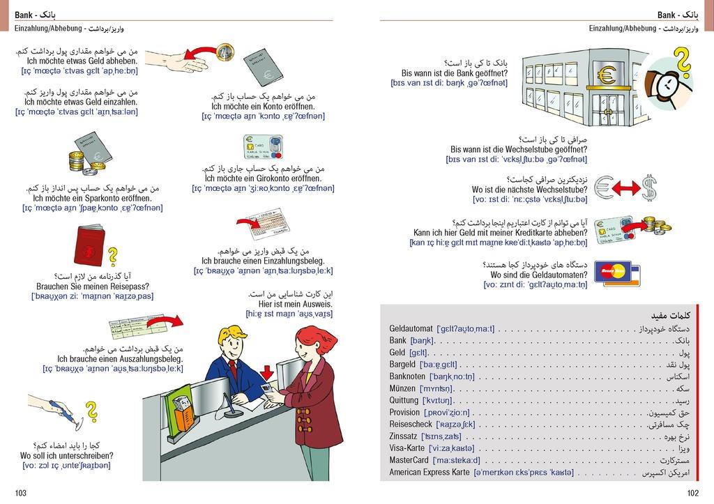 Illustrierter Sprachführer Persisch-Deutsch. Ausgangssprache Persisch