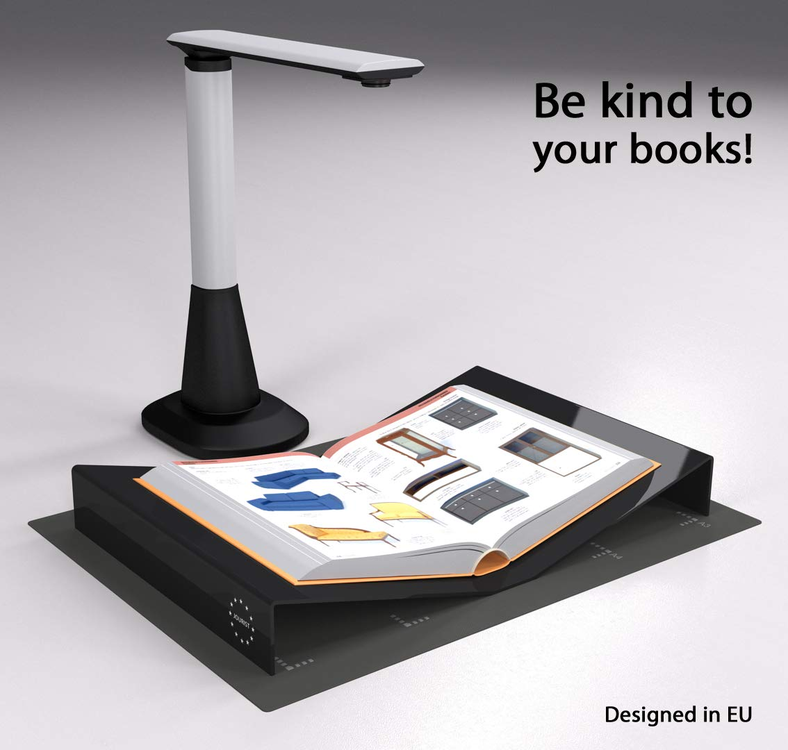 Buchwiege für Aufsichtscanner und Buchscanner