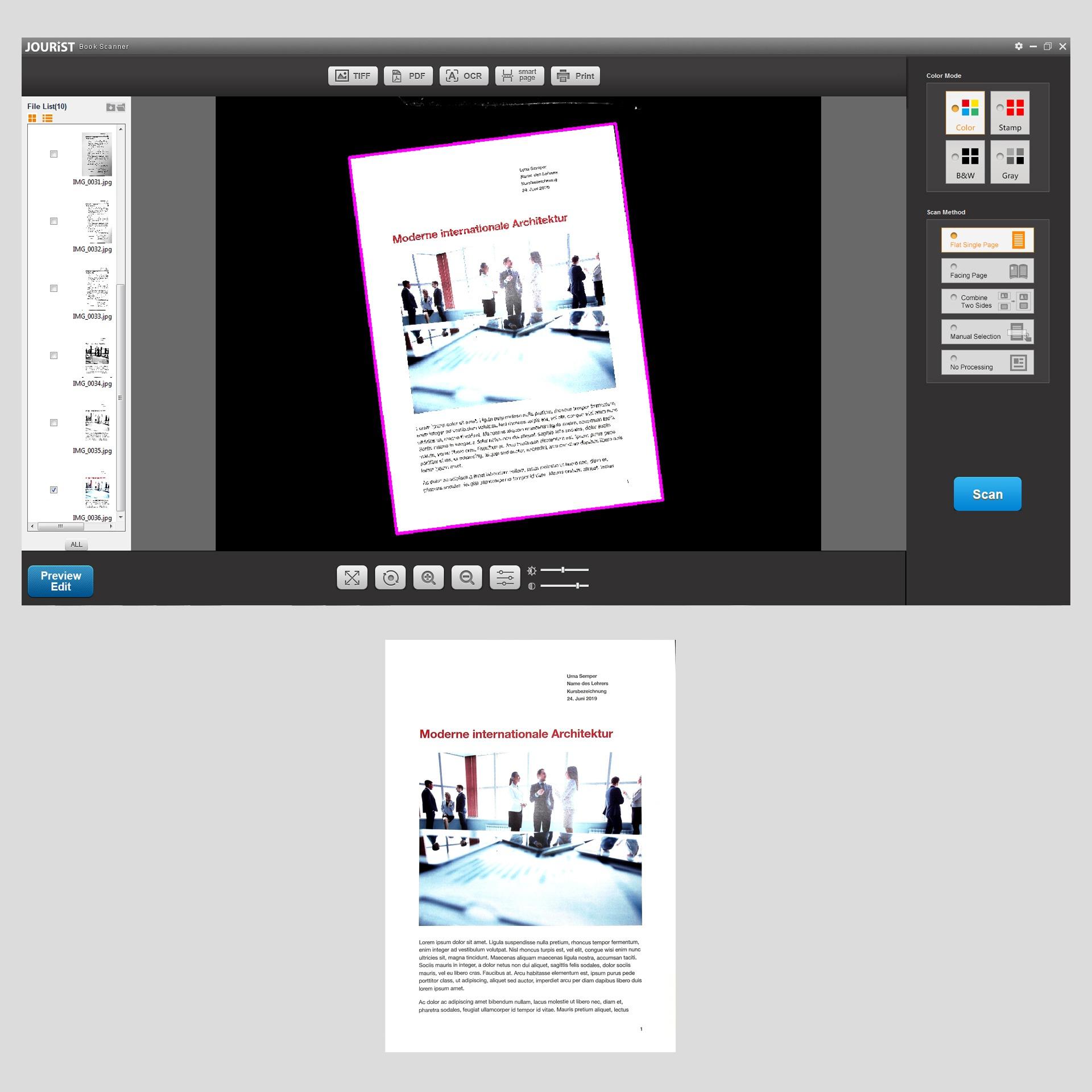 BS16 professioneller Buch- und Dokumentscanner